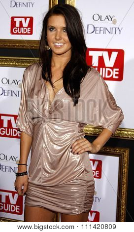 Audrina Patridge attends the 5th Annual TV Guide's Emmy Awards Afterparty held at the Les Deux in Hollywood, California, United States on September 16, 2007.