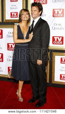 Lisa Rinna and Harry Hamlin attend the 5th Annual TV Guide's Emmy Awards Afterparty held at the Les Deux in Hollywood, California, United States on September 16, 2007.