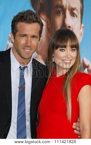 WESTWOOD, USA - AUGUST 4: Ryan Reynolds and Olivia Wilde at the Los Angeles Premiere of