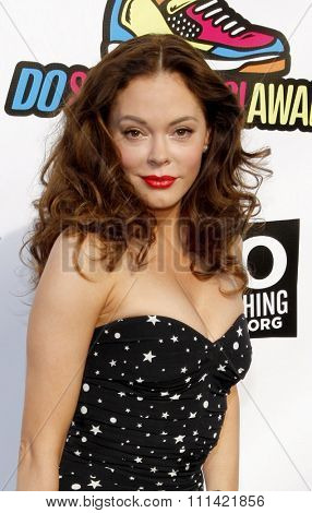 HOLLYWOOD, USA - AUGUST 14: Rose McGowan at the 2011 VH1 Do Something Awards held at the Palladium in Los Angeles, USA on August 14, 2010.