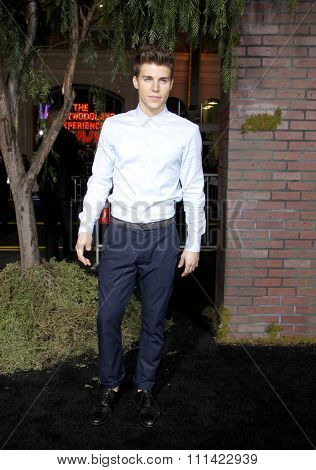 Nolan Funk at the Los Angeles premire of