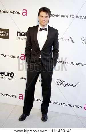 Ian Somerhalder at the 21st Annual Elton John AIDS Foundation Academy Awards Viewing Party held at the Pacific Design Center in Los Angeles, United States, 240213.