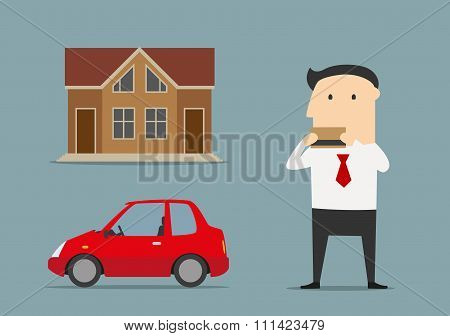 Businessman bought house and car by credit card