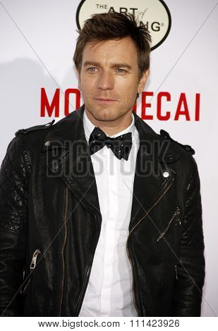 Ewan McGregor at the Los Angeles premiere of 'Mortdecai'  held at the TCL Chinese Theatre in Los Angeles on Wednesday January 21, 2015.