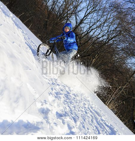 Bicyclist extreme riding