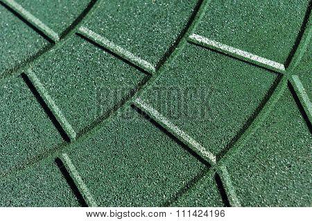 Rubber crumb coating