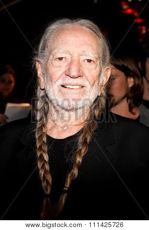 Willie Nelson at the Global Green USA's 10th Annual Pre-Oscar Party held at the Avalon in Los Angeles, United States, 20/02/13.