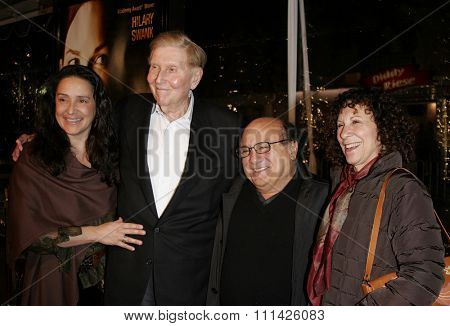 Sumner Redstone and Danny DeVito at the Los Angeles premiere of
