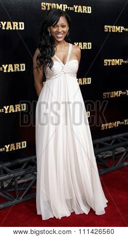 Meagan Good attends the World Premiere of