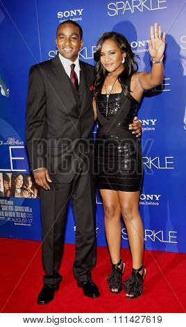 Bobbi Kristina Brown and Nick Gordon at the Los Angeles premiere of