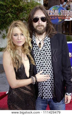 August 2, 2005. Kate Hudson and husband Chris Robinson attend at the