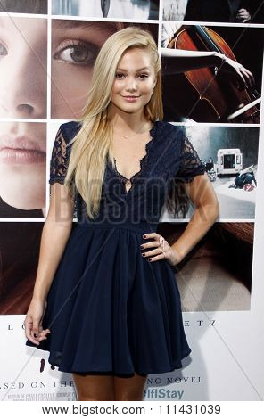 Olivia Holt at the Los Angeles premiere of 'If I Stay