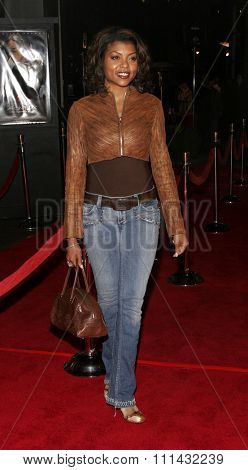 December 1, 2005. Taraji P. Henson attends the Wolrd Premiere of Aeon Flux at the Cinerama Dome in Hollywood, California United States.