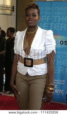 HOLLYWOOD, CALIFORNIA - June 28 2005. Fantasia Barrino attends at the 2005 BET Awards at the Kodak Theater in Hollywood, California.