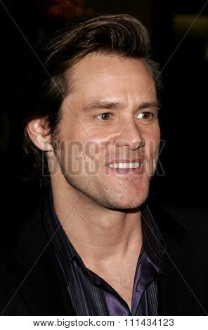 Jim Carrey attends The Sony Pictures Los Angeles Premiere of
