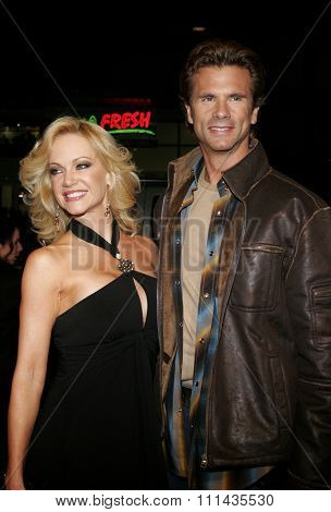 Lorenzo Lamas and Barbara Moore attend the Warner Bros World Premiere of