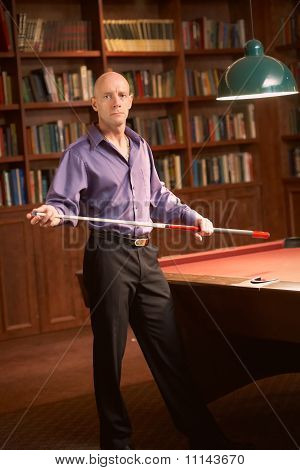 Billiards pool player
