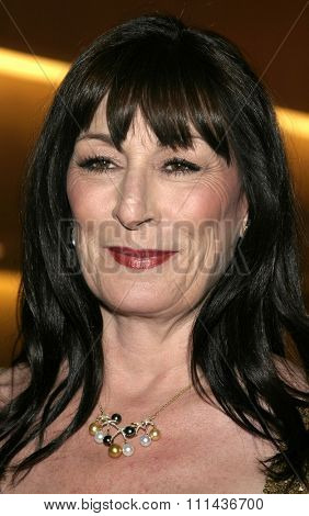 BEVERLY HILLS, CALIFORNIA, May 6, 2005 - Angelica Huston attends at National University of Ireland Honorary Degree Conferring Ceremony at the Beverly Hilton Hotel in Beverly Hills, Los Angeles.