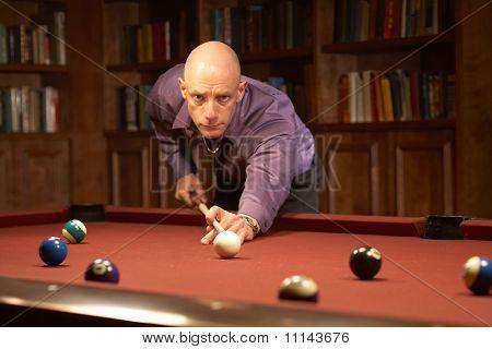Playing pool billiards