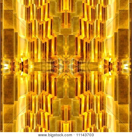 Abstract Gold Square.texture Stupa In Temple