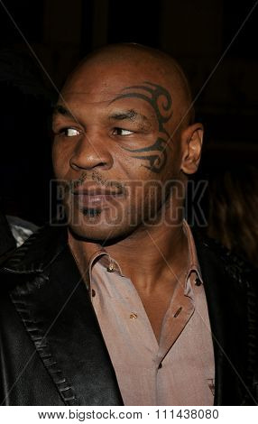 Mike Tyson at the