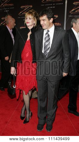 October 16, 2005. Antonio Banderas and Melanie Griffith at the Columbia Pictures'