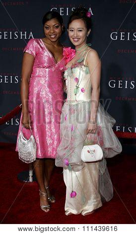12/04/2005 - Hollywood - Youki Kudoh and Taraji Henson attend the