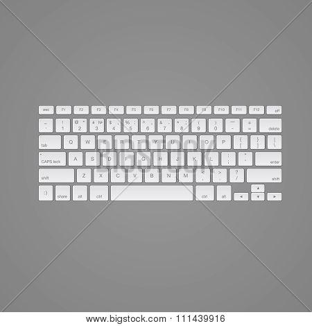 Computer keyboard, isolated