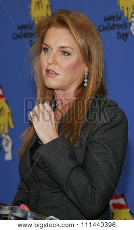 November 15, 2005 - Hollywood - The Dutchess of York Sarah Ferguson at the 2005 World Children's Day at The Los Angeles Ronald McDonald House Ronald McDonald House in Hollywood, United States.