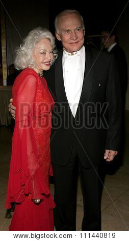 11/19/2005 - Beverly Hills - Buzz Aldrin and wife at the Diamond Jubilee Spirit of Hollywood Awards at the Beverly Hilton hotel in Beverly Hills , California, United States.