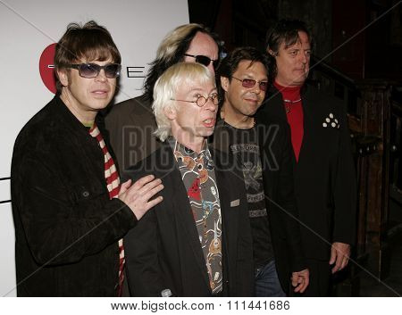 Elliot Easton, Greg Hawkes, Todd Rundgren, Kasim Sulton and Prairie Prince at  The New Cars Press Conference held at the House of Blues Sunset Strip in West Hollywood, California on March 14, 2006.