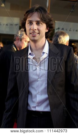17 June 2004 - Hollywood, Califronia - Zach Braff. Opening Night of the 2004 Los Angeles Film Festival and the Los Angeles Premiere of 'Garden State' at the Acrlight Cinema in Hollywood.