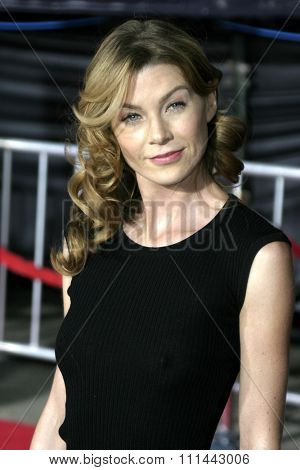 2 August 2004 - Los Angeles, California - Ellen Pompeo. The World Premiere of 'Collateral' at the Orpheum Theatre in downtown Los Angeles.