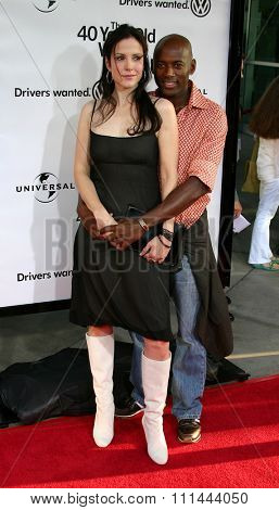 WESTWOOD, CALIFORNIA. August 11, 2005. Mary Louise Parker and Romany Malco at the