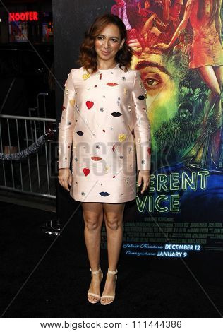 Maya Rudolph at the Los Angeles premiere of 'Inherent Vice' held at the TCL Chinese Theatre in Los Angeles on Wednesday December 10, 2014.