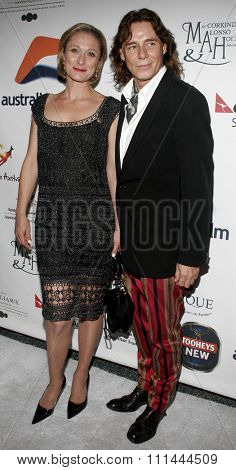 BEVERLY HILLS. Thursday May 11, 2006. Caroline Goodall and George Blodwell attend the Australians In Film 2006 Breakthrough Awards held at the Avalon Hotel in Beverly Hills, California United States.