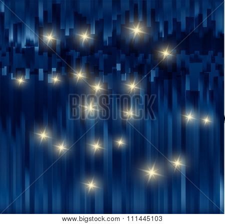Dark Blue fantasy star background