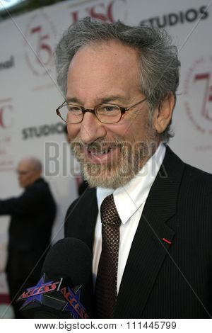 Steven Spielberg at the 75th Diamond Jubilee Celebration for the USC School of Cinema-Television held at the USC's Bovard Auditorium in Los Angeles, United States on September 26 2004.