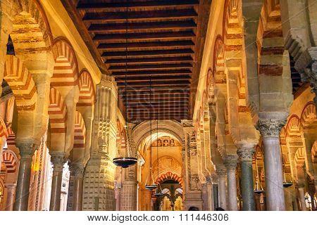 Capilla First Christain Chapel Arches Mezquita Cordoba Spain