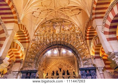 Capilla First Christian Chapel Arches Mezquita Cordoba Spain