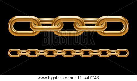 Metal chain links