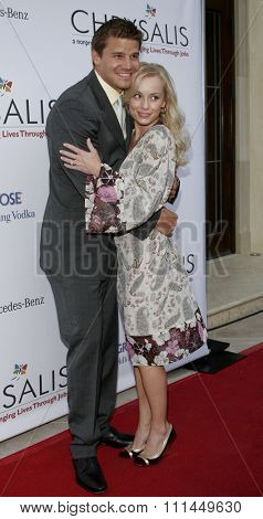 06/10/2006 - Bel Air - Jaime Bergman and David Boreanaz attend the Chrysalis' 5th Annual Butterfly Ball  held at Italian Villa Carla and Fred Sands in Bel Air, California, United States.