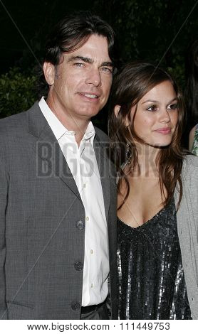 06/10/2006 - Bel Air - Rachel Bilson and Peter Gallagher at the Chrysalis' 5th Annual Butterfly Ball  held at Italian Villa Carla and Fred Sands in Bel Air, California, United States.