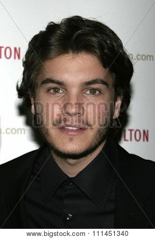 Emile Hirsch at the 55th Annual Ace Eddie Awards held at the Beverly Hilton Hotel in Beverly Hills, California United States on February 20, 2005.