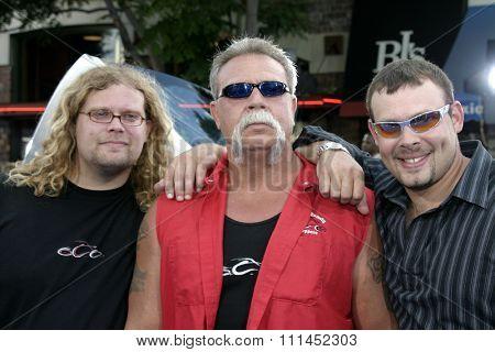 Paul Teutul Jr, Paul Teutul Sr and Michael Teutul  at the Los Angeles premiere of