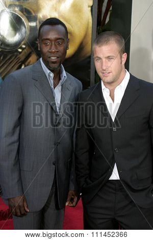 Don Cheadle and Scott Caan at the Los Angeles premiere of