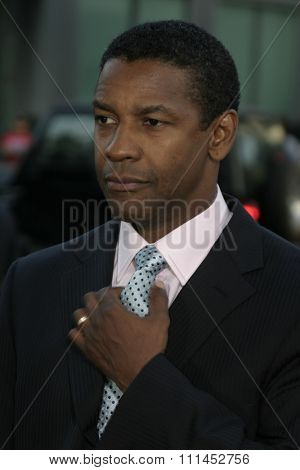 Denzel Washington at the Los Angeles premiere of