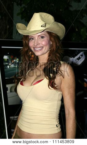 19 August 2004 - Hollywood, California - Phoebe Price. Pelle Pelle's Celebrity Catwalk for charity hosted by Nicole Richie at the Palladium in Hollywood.