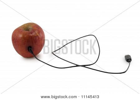 Apple with usb