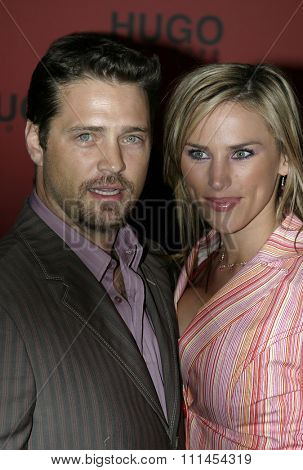 03/15/2005 - Beverly Hills - Jason Priestley and Naomi Lowde at the Hugo Boss Fall Winter 2005 Men's and Women's Collections Party and Fashion Show - Arrivals at The Beverly Hills Hotel.